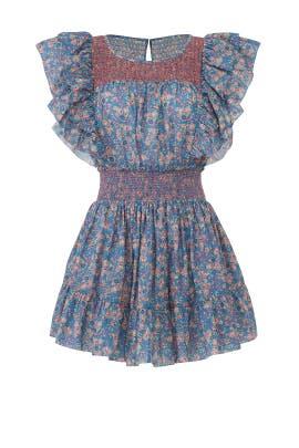 Marcella Ruffle Dress by LoveShackFancy