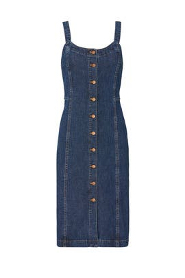 Denim Button Front Tank Dress by Madewell