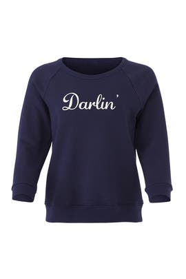Navy Darlin Sweatshirt by Draper James