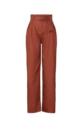 Rust Pleated Pants by Sweet Baby Jamie