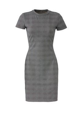 Plaid Short Sleeve Sheath by Waverly Grey