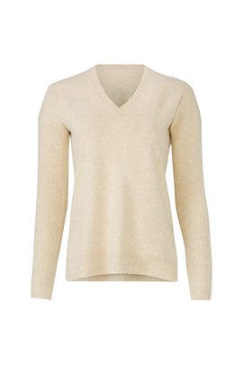 Cream Boyfriend Sweater by BROWN ALLAN