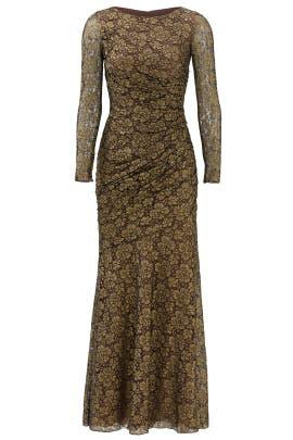 Gold Idol Gown by Carmen Marc Valvo