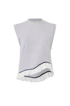 Sleeveless Ruffle Sweatshirt by Harvey Faircloth