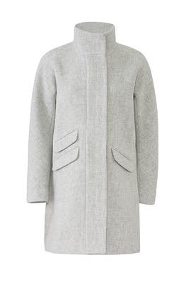 Grey Cocoon Coat by J.Crew