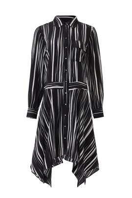 Barcode Shirtdress by Nicole Miller