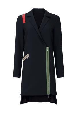 Zipper Blazer Dress by Nicole Miller