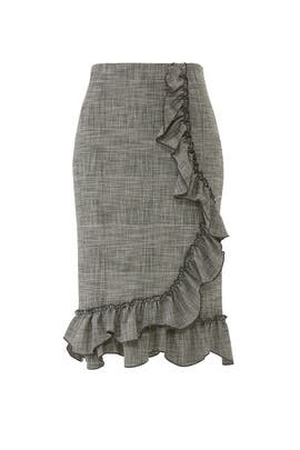 Plaid Ruffle Skirt by Rebecca Taylor
