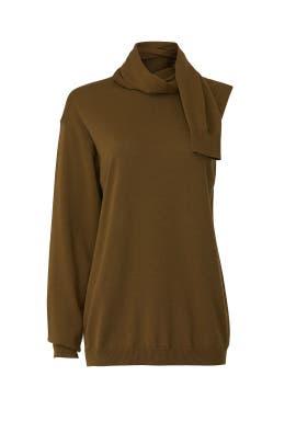 Mele Asymmetric Sleeve Sweater by Tibi