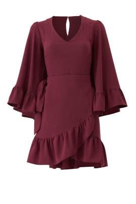 Mai Drape Sleeve Dress by DREW
