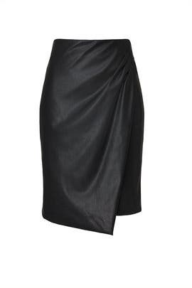 Vegan Leather Overlay Skirt by Great Jones