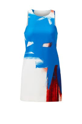 Modern Abstract Print Mini Dress by Milly