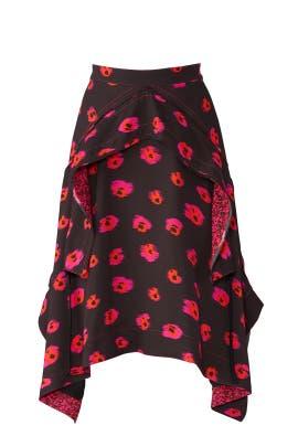 Black Layered Midi Skirt by Proenza Schouler