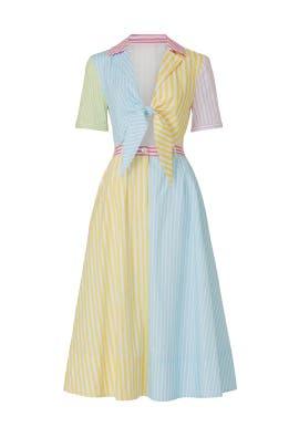 Striped Giorgiana Dress by Staud