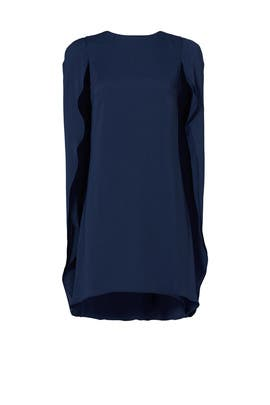 Navy Cape Dress by Halston Heritage