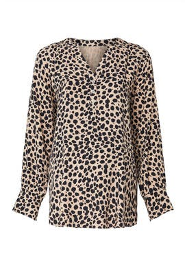 Leopard Maternity Top by Ingrid & Isabel