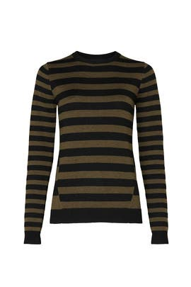 Olive Stripe Sweater by Jason Wu Collective