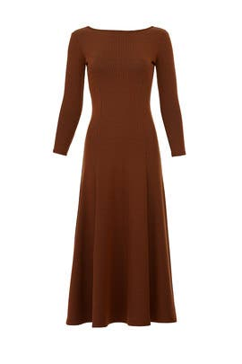 Brown Gwyneth Knit Dress by Mara Hoffman