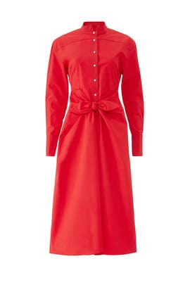 Red Tie Shirtdress by Proenza Schouler