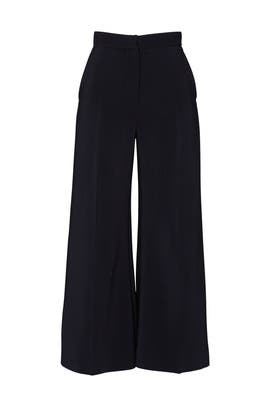 High Rise Cropped Trousers by Rosetta Getty