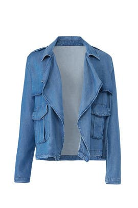 Blue Drape Denim Jacket by Splendid