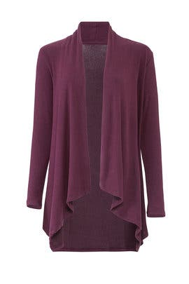 Berry Amie Waterfall Cardigan by B Collection by Bobeau