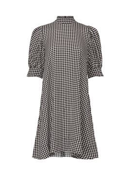 Gingham Mini Dress by GANNI