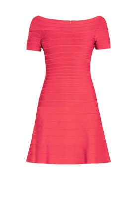 Pink Liza Dress by Hervé Léger