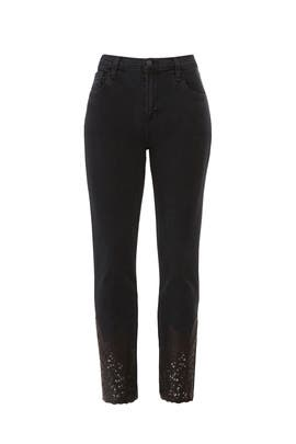 Ruby High Rise Crop Jeans by J BRAND