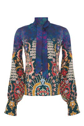 Printed Tie Neck Blouse by Peter Pilotto