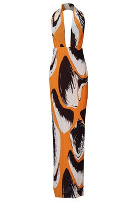Printed Laryn Gown by Solace London