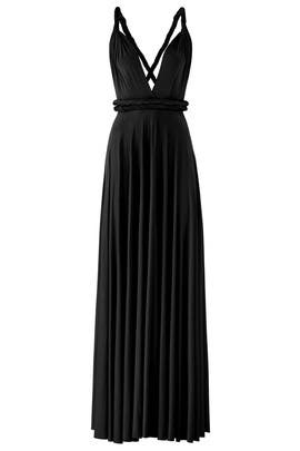 Black Classic Convertible Gown by twobirds