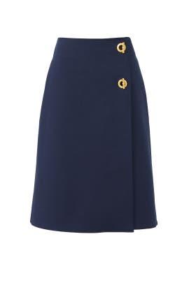 Navy Ruth Skirt by Tory Burch