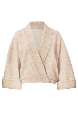 Oatmeal Sweater Jacket by Badgley Mischka