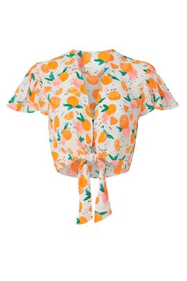 Tangerine Top by Color Me Courtney