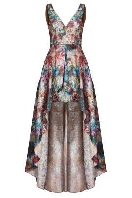 4f2ddf3ce05 Marchesa Notte Stardust High Low Gown