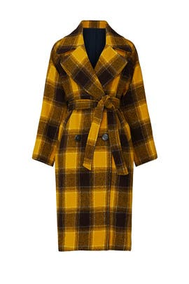 Amber Pop Plaid Coat by Sea New York