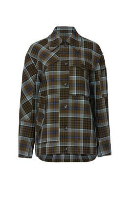 Plaid Workmen Jacket by Tibi