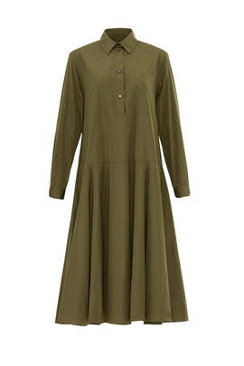 Tented Green Shirtdress by Jil Sander Navy