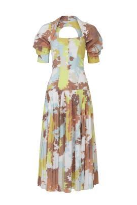 Iva Pleated Midi Dress by Jonathan Simkhai