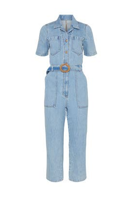 Arlo Denim Jumpsuit by Nanushka
