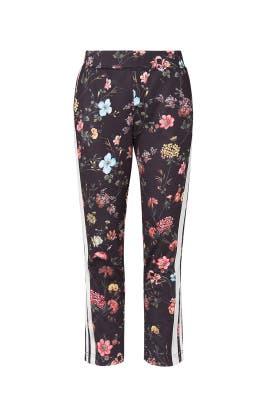 Floral Fineline Crop Flare Pants by Pam & Gela