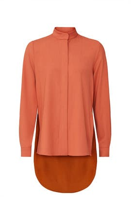 Burnt Orange Tailoring Top by Roksanda