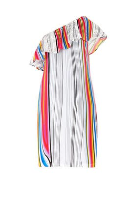Rainbow Stripe Midi Dress by Rachel Rachel Roy