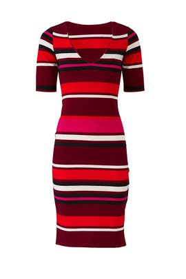 Red Tone Striped Dress by Slate & Willow