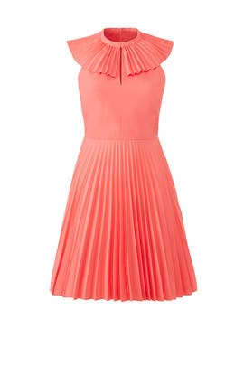 Pink Fan Collar Dress by Tara Jarmon