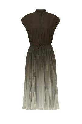 Tie Waist Pleated Dress by Club Monaco
