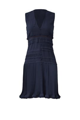 Navy Plisse Dress by Carven