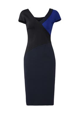 V-Neck Banded Dress by Diane von Furstenberg