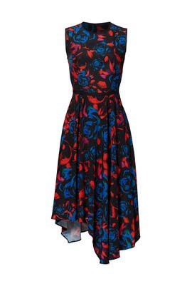 Floral Asymmetrical Dress by Hunter Bell
